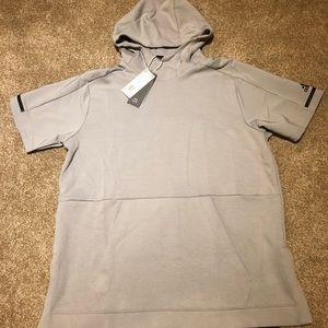 Adidas Short Sleeve Pullover Hoodie